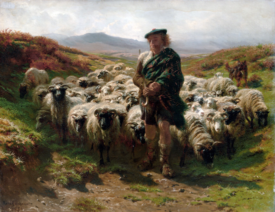Highland Shepherd, Bonheur (22X28.6)
