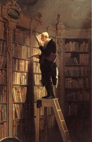 The Book Worm, Karl Spitzweg (20X31)