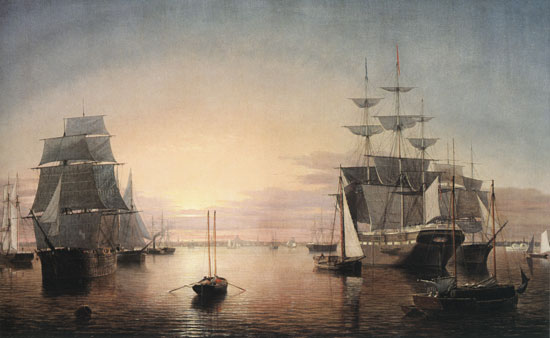 Boston Harbor at Sunset, Fitz Hugh Lane (18X29.25)