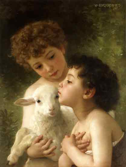 Children with a Lamb, William Bouguereau