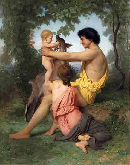 Idyll, Ancient Family, William Bouguereau