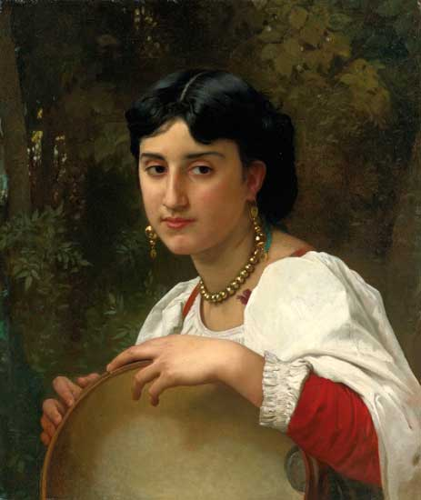 Italian Girl with Tamborine,  William Bouguereau