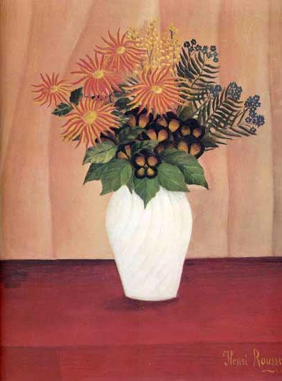 Bouquet of Flowers, Henri Rousseau (16.25X22)