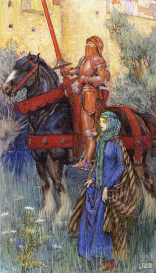 The Rusty Knight, Eleanor Fortescue-Brickdale (16X28)