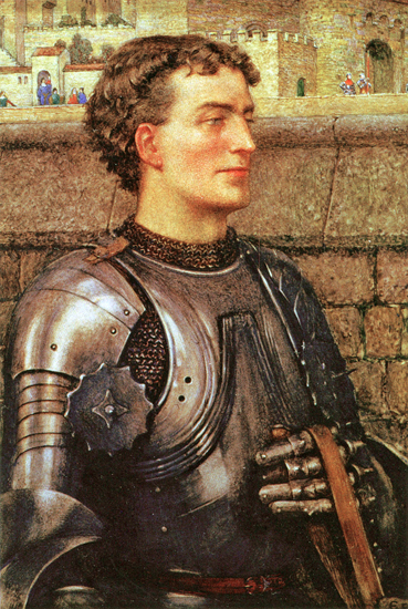 A Knight in Armour, Eleanor Fortescue-Brickdale(14.75X22)