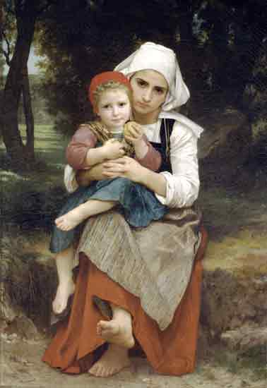 Breton Brother and Sister, Bouguereau (22X32)