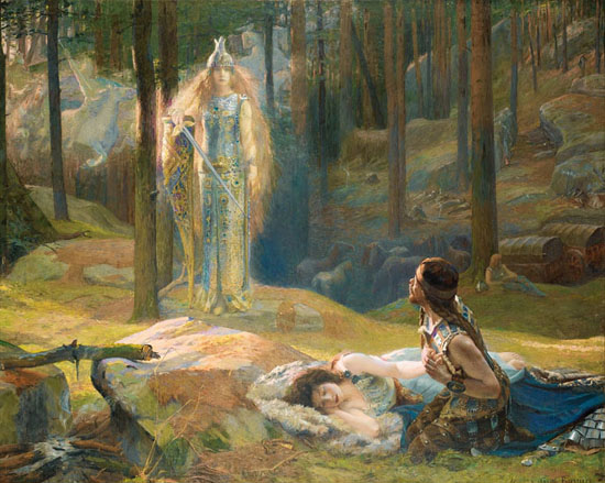 The Revelation, Brünnhilde Discovering Sieglinde, Gaston Bussiere
