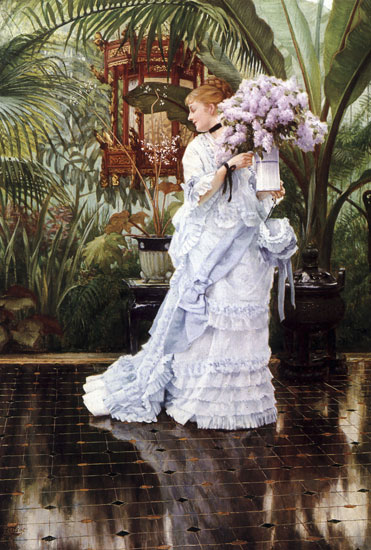 A Bunch of Lilacs,James Joseph Jacques Tissot