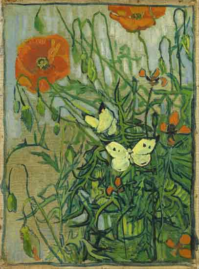 Butterflies and Poppies, van Gogh (22X29.7)