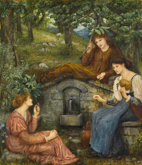 By a Clear Well, Marie Spartali Stillman