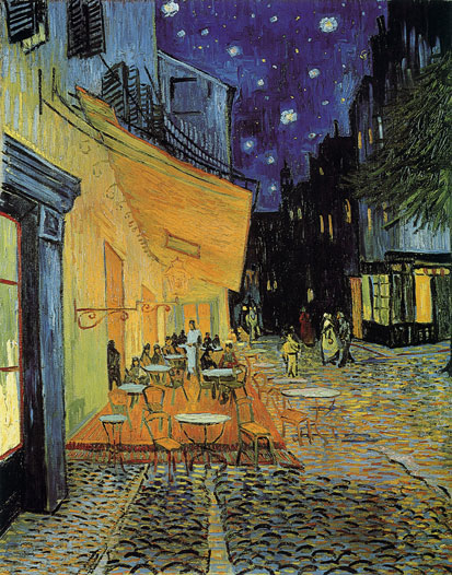 Cafe Terrace, Arles at Night, Vincent van Gogh