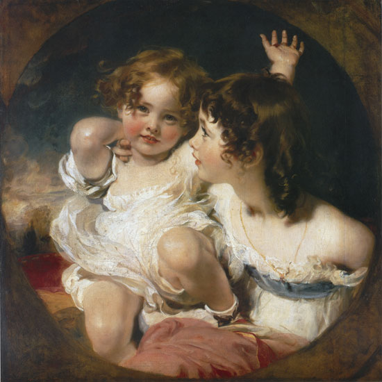 The Calmady Children, Sir Thomas Lawrence (24X24)