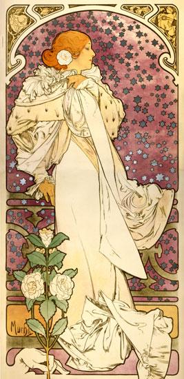 Camelias, Alphonse Mucha (16X33)
