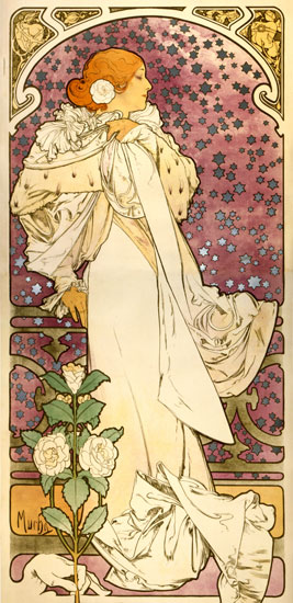 Camelias, Alphonse Mucha