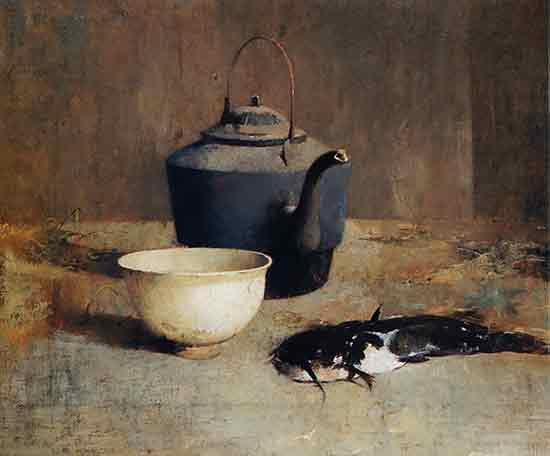 Still Life with Catfish, Emil Carlsen