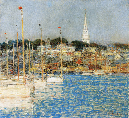 Catboats, Newport, Childe Hassam