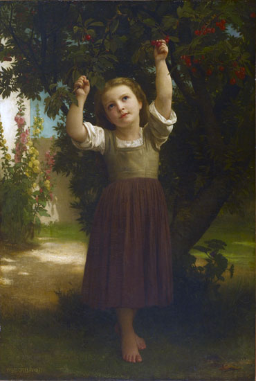 The Cherry Picker, William-Adolphe Bouguereau (16X23.75)