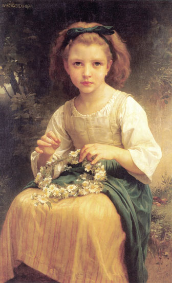 Child Braiding a Crown, William-Adolphe Bouguereau (18X29.5)