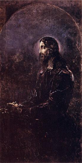 Christ, Mikhail Alexandrovich Vrubel (16X31.75)