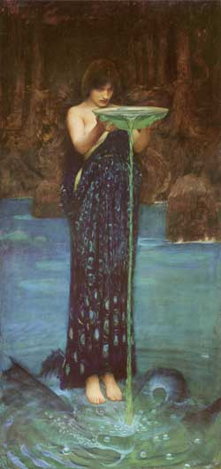 Circe Invidiosa, Waterhouse  (16X34)