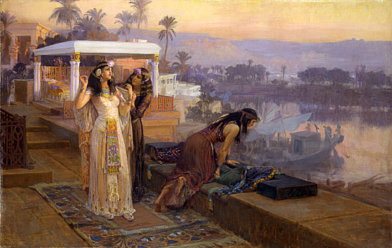 Cleopatra on the Terraces of Philae, Fredrick Bridgman (22X34.9)