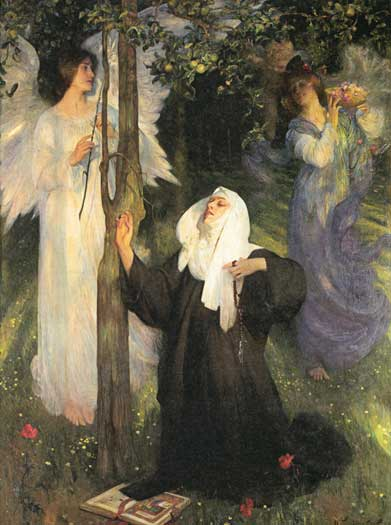The Cloister or The World, Arthur Hacker