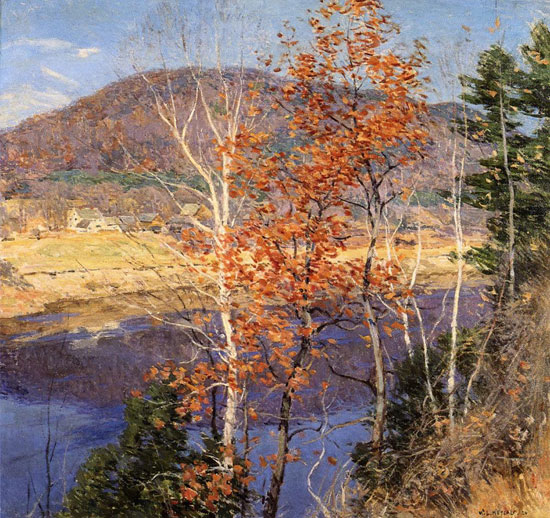 Closing Autumn, Willard Metcalf (16X17)