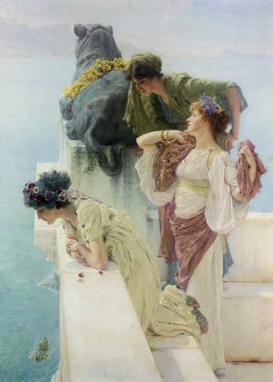 A Coign of  Vantage, Sir Lawrence Alma-Tadema
