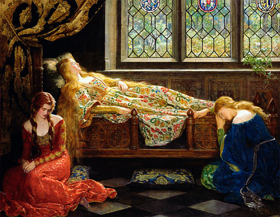 Sleeping Beauty, Hon. John Collier (16X20.75)