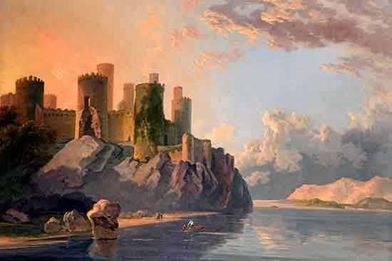 Conway Castle, Wales, William Hodges