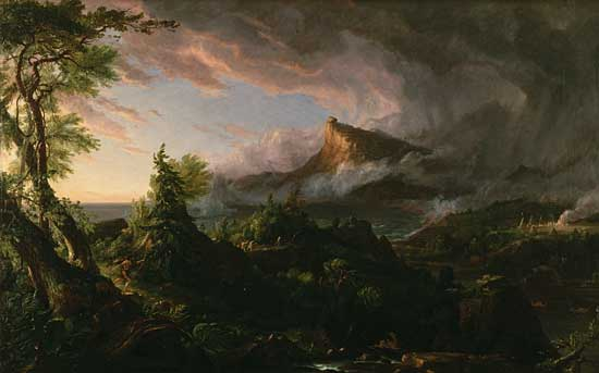 The Course of Empire-Savage, Thomas Cole (21.2X32