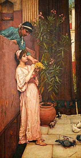 Courtship, Waterhouse (16X31)