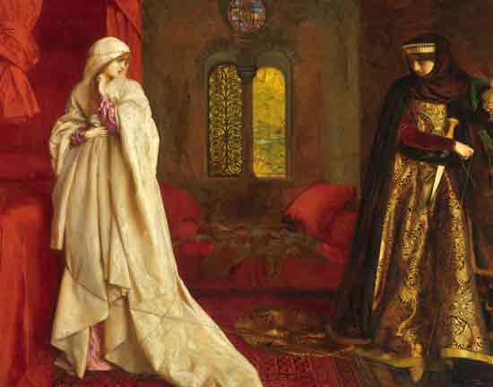Fair Rosamund and Eleanor, Cowper (22X28)