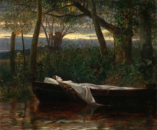 Lady of Shalott, Walter Crane  (22X26.6)