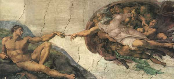 Creation of Man, Michaelangelo (20X44)