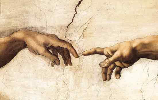 The Creation of Man (detail), Michaelangelo