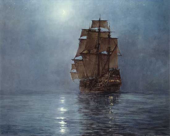 Crescent Moon,Montague Dawson(24X30)