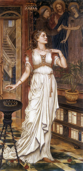 The Crown of Glory, Evelyn De Morgan (16X33)