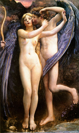 Cupid and Psyche,  Annie Louise Swynnerton (16X27)