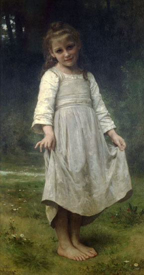 The Curtsey, William-Adolphe Bouguereau (16X30.5)