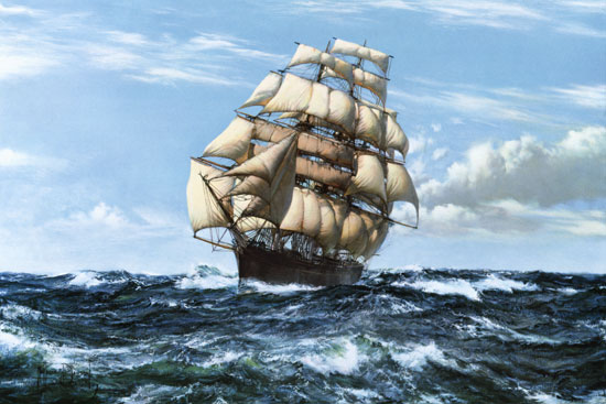 Cutty Sark,  Montague Dawson