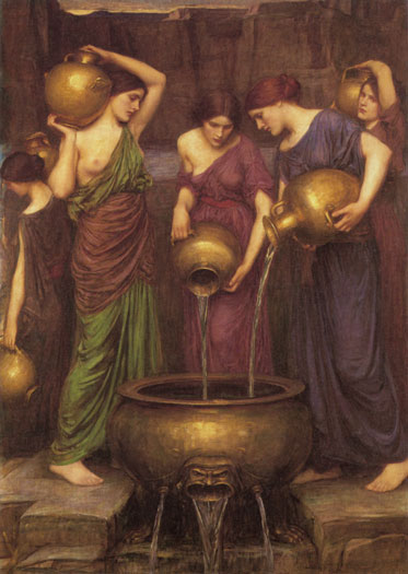 The Danaides, Waterhouse (16X22.5)