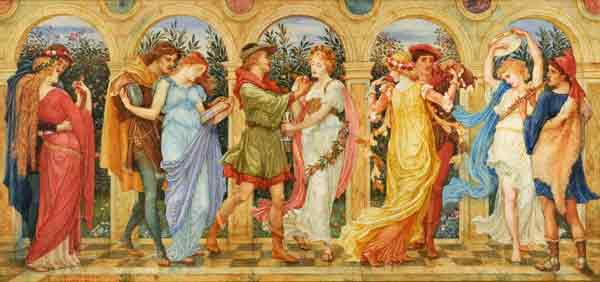 Dance of the Five Senses, Walter Crane