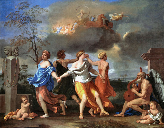 The Dance to the Music of Time, Nicolas Poussin (17.2X22)