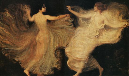 Dancers, von Stuck (18X30.5)
