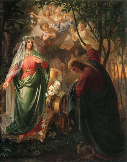 Dante and Beatrice, Oesterley (18X23)