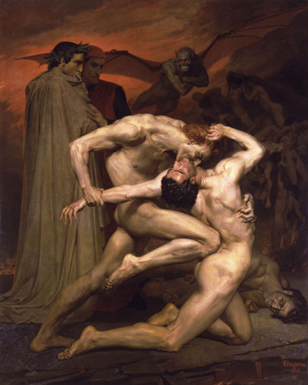 Dante  and Virgil in Hell, William-Adolphe Bouguereau