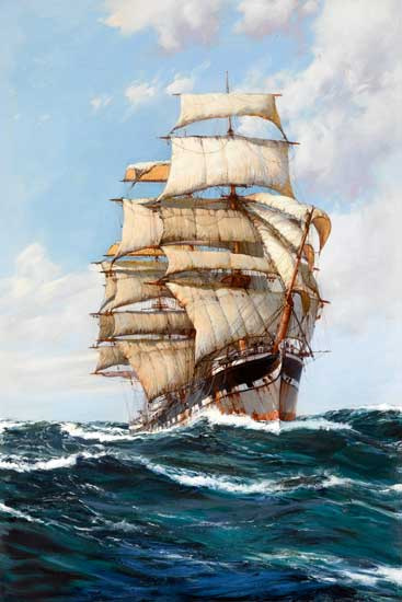 The Clan MacFarlane, Montague Dawson