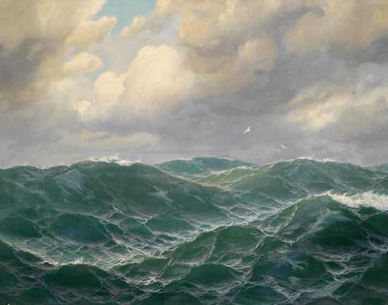 Stormy Sea,  Montague Dawson