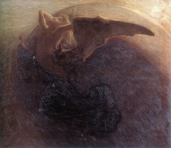Day Awakens Night, Gaetano Previati (16X18.5)